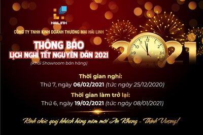 Công ty TNHH KDTM Hải Linh thông báo nghỉ Tết Nguyên Đán Tân Sửu 2021