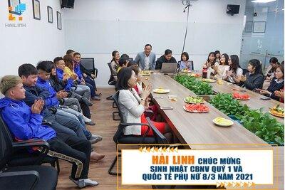 Hải Linh chúc mừng sinh nhật CBNV quý 1 và quốc tế phụ nữ 8/3 năm 2021