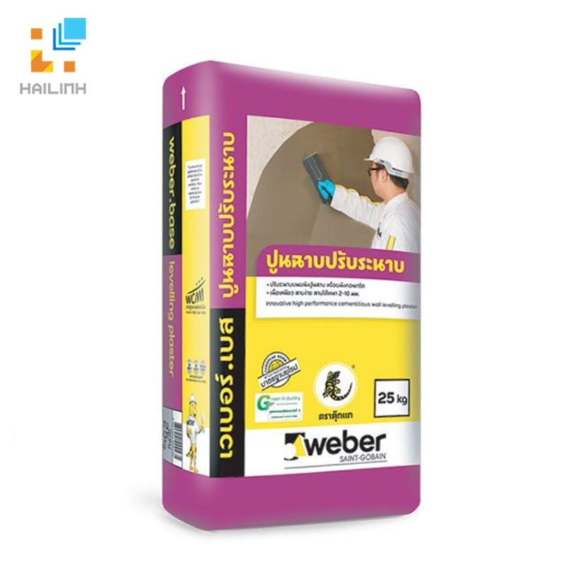 Vữa  Weber base levelling plaster