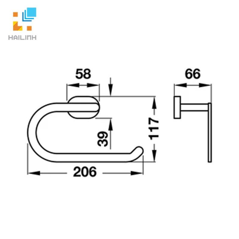 Vòng treo khăn Hafele 580.34.310