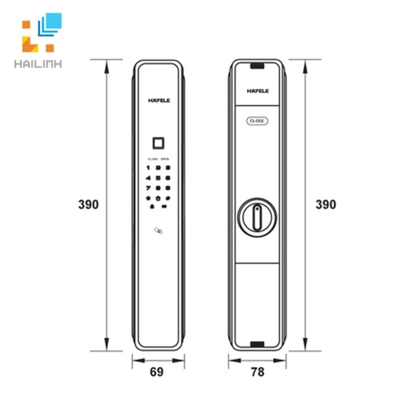 Khóa điện tử Hafele 912.05.692