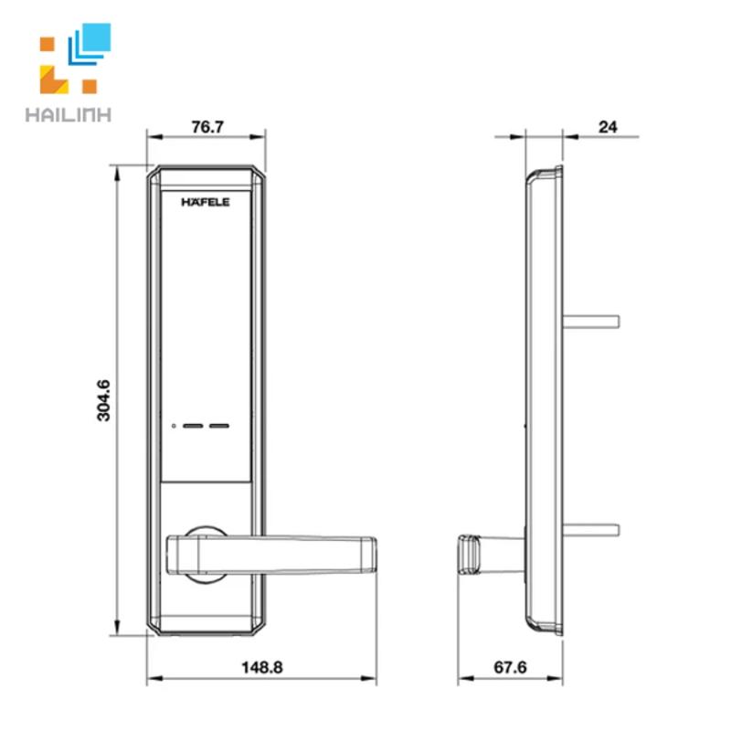 Khóa điện tử Hafele 912.05.714