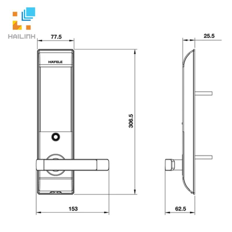 Khóa điện tử Hafele 912.05.716