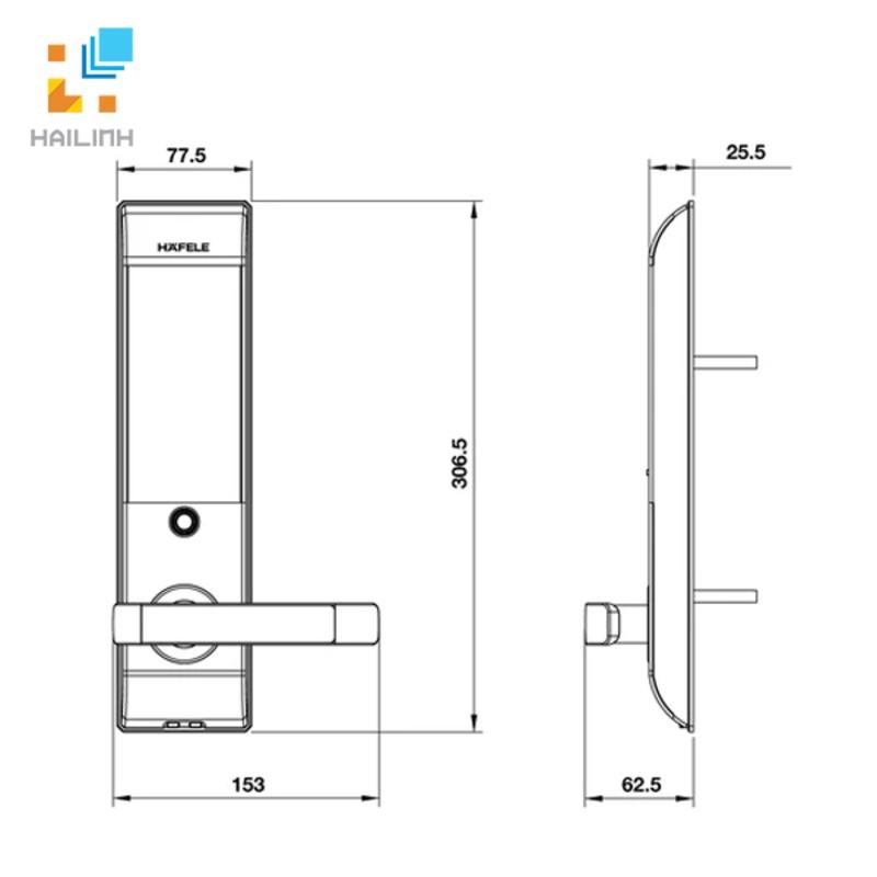 Khóa điện tử Hafele 912.05.729