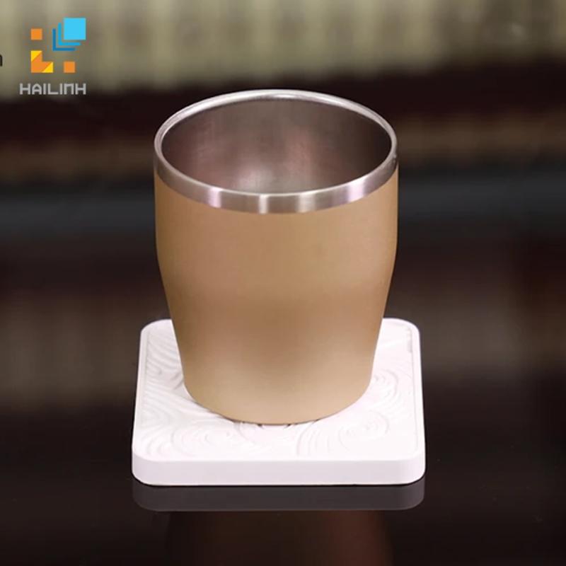 Lót ly cốc Diatomite vuông