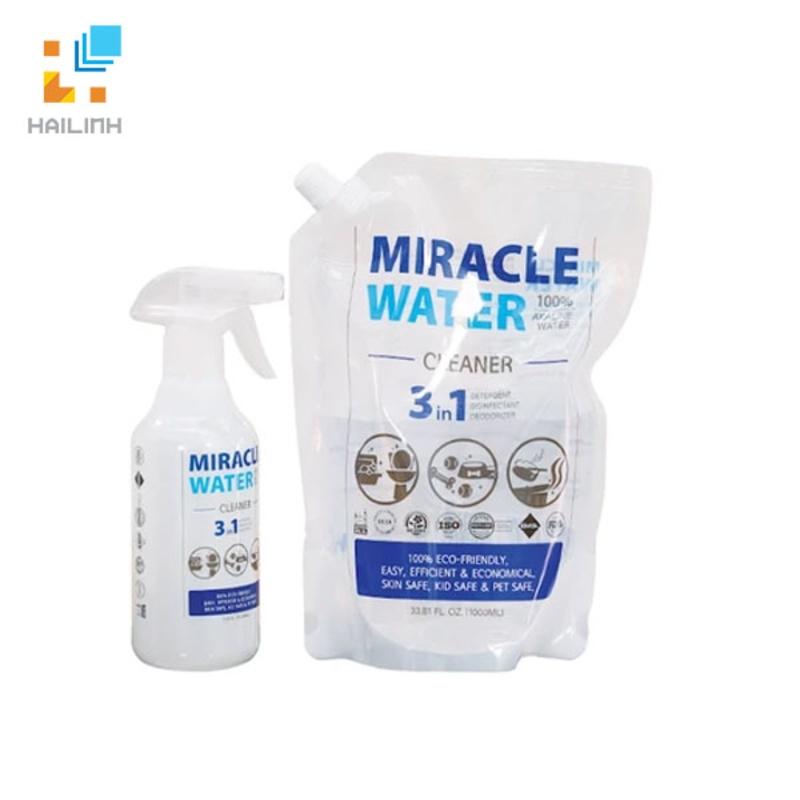 Combo nước kiềm tẩy rửa Miracle water 1.4 lít
