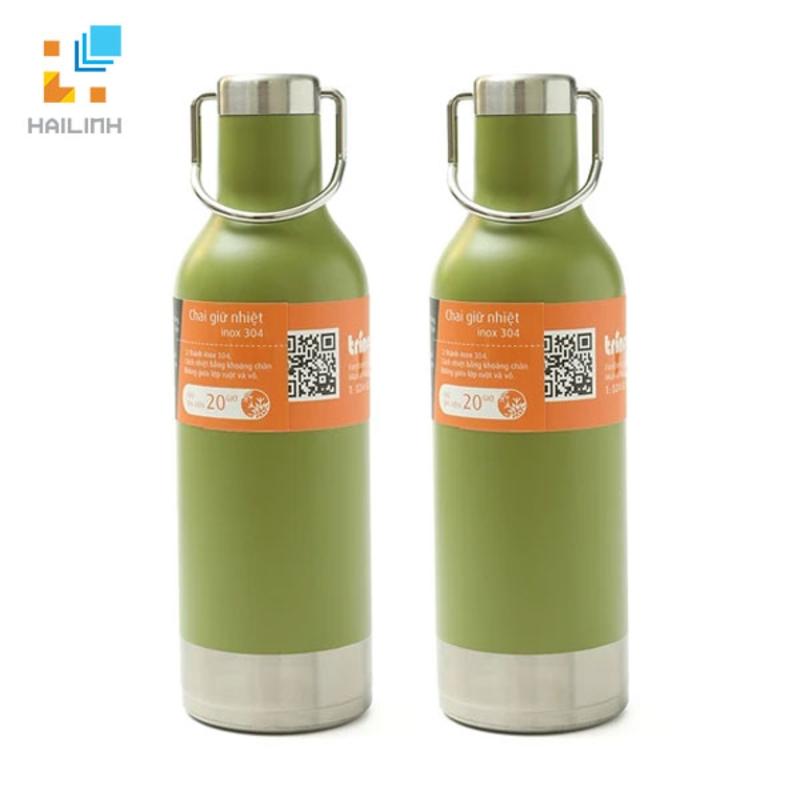 Cặp chai giữ nhiệt inox Trino 473ml