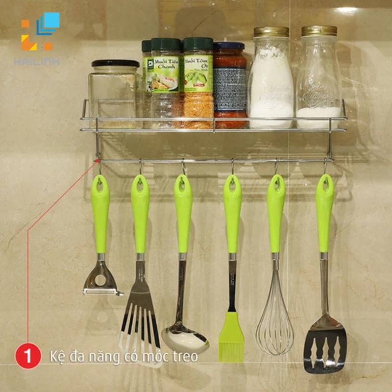 Bộ 4 món giá kệ dính tường nhà bếp