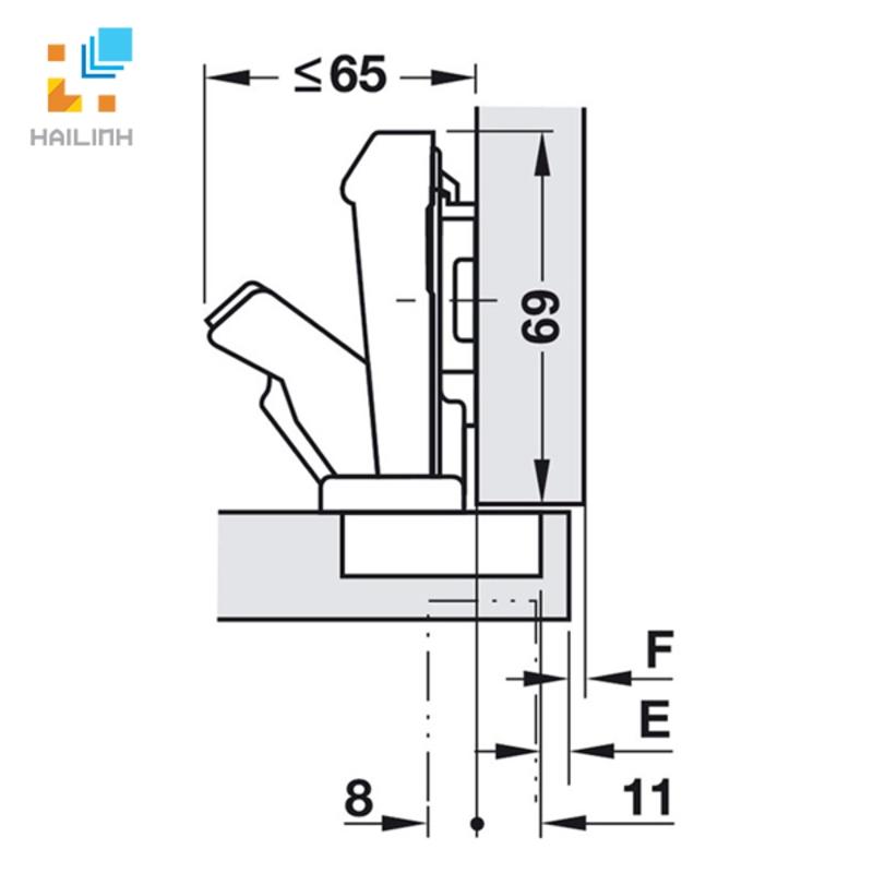 Bản lề tủ bếp Blum 71T6550