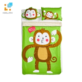 Bộ chăn ga gối Everon Baby set - Monkey