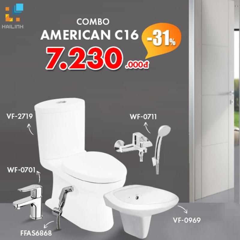 Combo Thiết bị vệ sinh American Standard C16